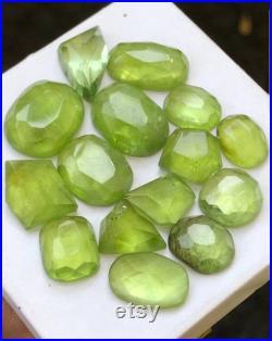 50cts Beautiful natural apple green peridot rosecuts