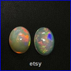 8.7CT(4.7 4), 100 natural, Welo opal,Ethiopian Opal Cabochon lot, Multifire opal,White Opal, Opal Cabochon for Jewelry.