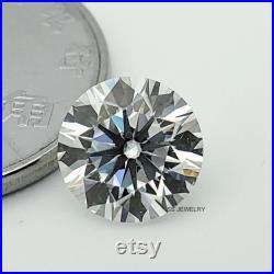 9.10 mm Round Brilliant Cut Loose Moissanite, Colorless Round Moissanite, Loose Round Stone, Moissanite For Moissanite Ring, 3 Ct Moissanite