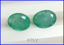 9X7 mm Certified Natural Emerald Oval Cut Pair Untreated Loose Gemstones 2.89 CTS