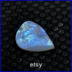 AAA Quality Rainbow Moonstone Druzy, Natural Pear Shape Full Blue Flashy Unpolished Rainbow Moonstone Druzy Gemstone, 31 22 11mm 56Cts