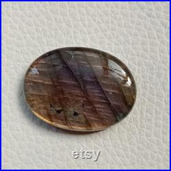 AAAA Quality Purple Labradorite Cabochon, 100 Natural Oval Shape Multi Purple Labradorite Crystal Loose Gemstone, Size 38 28 8mm 80Cts