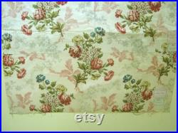 Antique 19th Century French Floral Cotton Print Fabric