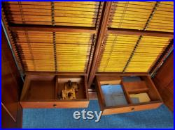 Antique Victorian Hardwood Microscope Glass Slide Specimen Cabinet Case Holds 984 Slides Rare and Gorgeous Pickup Delivery Special Ship