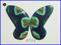 Azurite Malachite Cabochon Pair