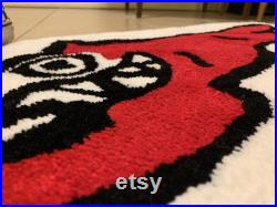 BBC Running Dog graphic custom tufted rug