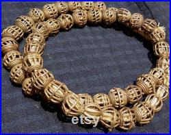 BT1018 African trade, Vintage Ashanti or Baoule lost wax cast brass beads from Ghana, 45 beads, 15 mm beads, 5 mm hole.