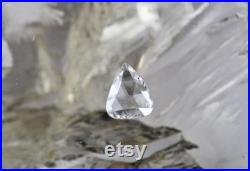 CERTIFIED Loose NATURAL Rose Cut DIAMOND 1.40 Carats E Colour SI1 Clarity Pear Stone Ring Pendant