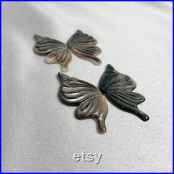 Carved Butterfly Black MOP Loose Piece Black MOP Loose Piece Shell Jewellery Shell Loose Piece