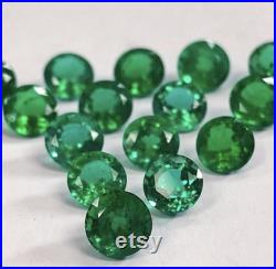 Certified 6mm 7mm Natural emerald Faceted Round cut Top AAA Quality Price Per Piece