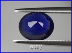 Certified Sapphire 3.56 Carats. Deep Blue Color. 10 x 8.4 MM. Beautiful Color. Normal Heat. Earth Mined. Video Available.