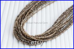 Champagne Diamond Faceted Rondelle Beads AAA 2 2.5 mm Natural Light Brown Diamond Beads Strand LB Diamond Faceted beads