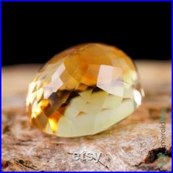 Citrine Loose Gemstone Oval Cut Natural Golden Yellow Faceted Stone Brazil Top Large Gem 15.92ct.