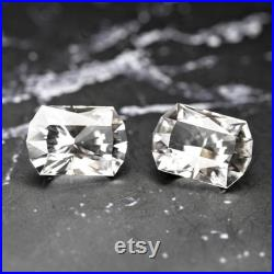 Danburite-Mexico 10.59 Ct TW Matching Pair-Flawless-Perfect Cushion Cuts 13 x 9 mm-For Top Jewelry