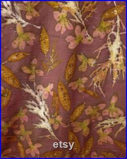 Ecoprinted cotton fabric, ecoprint fabric, natural dye fabric, natural dye cotton fabric