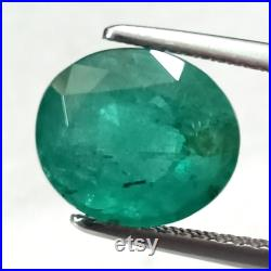 Emerald Oval 2.93 Cttw , Emeralds , Emerald Oval 3 Carat Size , Emerald Oval Facet , Zambian Emerald , Loose Emerald Oval , Emerald Gemstone
