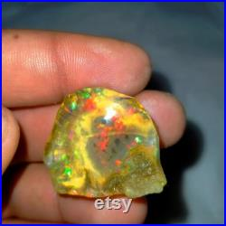 Ethiopian Crystal Opal Rough, Crystal Opal weight 69.45 Carat , Rough Stone,100 Natural Ethiopian Opal,Best Quality Rough ,Size 28x31mm