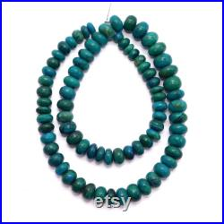 Exclusive Natural Chrysocolla Smooth Rondelle Gemstone Beads 6-10 mm Graduation Approx Handmade Chrysocolla Gemstone Beads -16'' Full Strand