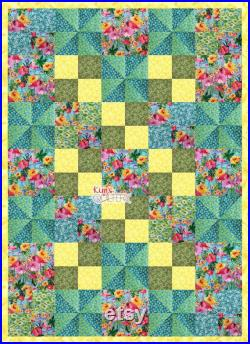 Flamingos In Paradise Lap Quilt Kit, Includes Binding and Backing