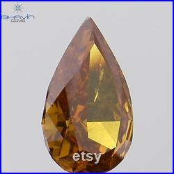 Gia Certified 1.21 CT Cushion Natural Fancy Deep Brownish Yellowish Orange,Even Diamond For Engagement,Wedding Ring 9.33 MM Sku VB29