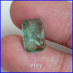 Gorgeous 4 Carat NATURAL ZAMBIAN EMERALD Oct Emerald Faceted Cut Loose Gemstone Unheated and Untreated Emerald, Best seller of Emerald.