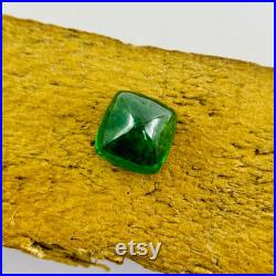 Green tsavorite polished cushion cabochon,Natural tsavorite,tsavorite cabochon,tsavorite ring,tsavorite necklace,gift for her,8X8X5MM