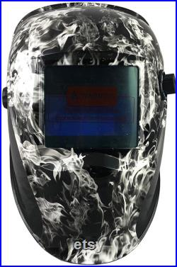 Hydro Dipped Auto Darkening Welding Helmet White Smoke Design