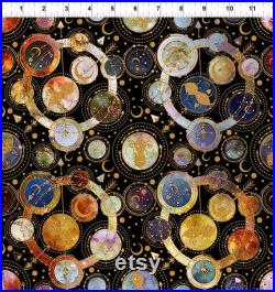 In the Beginning COSMOS Quilt Kit by Jason Yenter Fabric Quilt 75 1 2 x 91 1 2 Fabric for Quilt Top and Binding Space Astrology galaxy