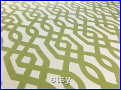 Kravet Design Pear Green Beige TRELLIS FRETWORK Geometric Cotton Jacquard Fabric 31392-316 Retails 137 yd Below Wholesale 2.3 yds