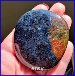 LARGE 221.6Carats Pietersite Freeform Chatoyant Fluid Beauty Touchstone Healing Spiritual Energy Palm Stone Cabochon Palmstone Metaphysical