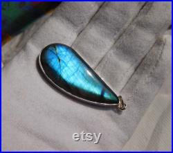 Labradorite Necklace, Sterling Labradorite Necklace, Labradorite Pendant, Flash Labradorite, Genuine Blue Labradorite, Gemstone Appeal, 127