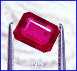 Loose Gemstone Natural Red Ruby Unheated Untreated 3.95 Cts Certified With Free Shipping