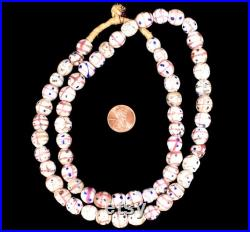 Medicine Man Venetian Trade Beads White Pink COOPER COLLECTION 136814