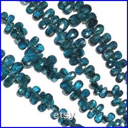 Moss Kyanite Pear Briolettes,Rare Natural Moss Kyanite Faceted Pear Briolettes Beads,Natural Moss Kyanite Briolettes,Size 5mm-18mm 8 Strand