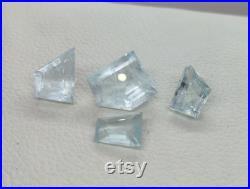 NEW SHAPES Natural Aquamarine Gemstones Lot, Top Aquamarine, Top Quality Great Color, Beautiful Faceted 33.90 Cts 16x15-12x10 MM P7