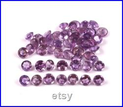 Natural Amethyst Gemstone AA Top Quality 100 Natural Pink Amethyst 4mm Round Calibrated stone Shape Loose Cut Stone 57 cts Round Lot
