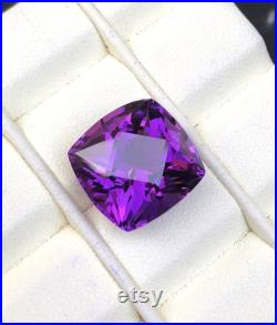 Natural Amethyst Loose Gemstone from Afghanistan 14.95 cts, 15 15 12 mm