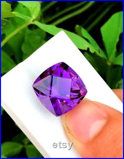 Natural Amethyst Loose Gemstone from Afghanistan -16.70 cts, 16 15 13mm