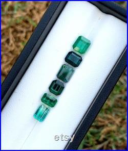 Natural Blue Green Tourmaline Gemstones Parcel 9.45 cts