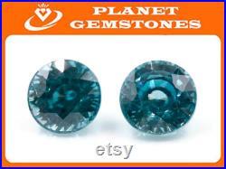 Natural Blue Zircon Blue Zircon Natural Zircon December Birthstone Genuine Zircon Blue Zircon Stone 5.35cts 9mm DIY Jewelry SKU 105255