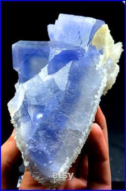 Natural Cubic Phantoms Fluorite Specimen From Pakistan 692 Gram 134 74 mm