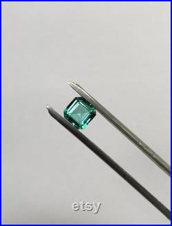 Natural Emerald Square Octagon 5x5 mm-Natural Emerald Luster Green-Emerald Custom Engagement Ring-Certified Transparent Loose Emerald Gem