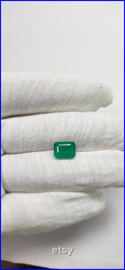 Natural Emerald octagon cut 4.36 Cts loose emerald Octagon Gemstone Natural emerald color base Emerald May Gemstone Emerald Ring Use