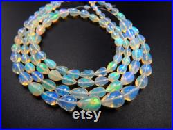 Natural Ethiopian Opal Teardrop Shape Faceted Beads Size 7X12 To 5X6 MM 8''Inches Strand Opal Use For All Type Briolettes Jewellery