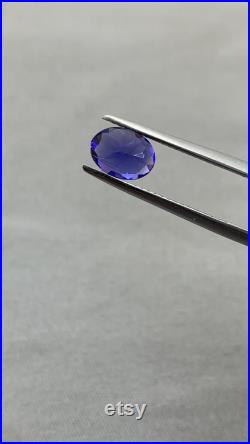 Natural Faceted Tanzanite from Tanzania in oval shape. weight-1.20 carats. size-6 8 mm. inclused eyeclean loosestone for jewellery.