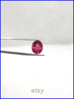 Natural Hot Pink Tourmaline 3.76 Carat 11x9 MM Oval Shape Faceted Gemstone