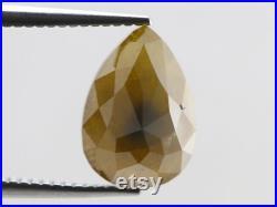 Natural Loose diamond, Salt and pepper diamond, Rustic diamond Pear cut Yellow 4.79 Ct. RG-489