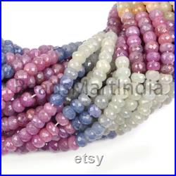 Natural Multi Sapphire Faceted Rondelle Beads, Multi Sapphire Faceted Beads, Sapphire Rondelle(6-7mm) Beads, Sapphire Natural Beads