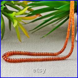 Natural Spessartite Garnet 2.5-7mm Smooth Rondelle Shape Gemstone Beads Approx. 215 Pieces on 20 Inch Long Strand JBC-ET-156740