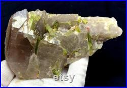 Natural Watermelon Tourmaline Crystals Cluster on Quartz Specimen 357 g , 150 87 mm
